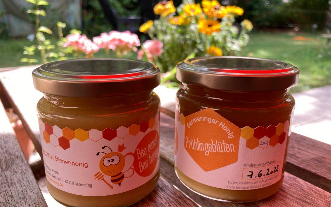 Neues Honig-Etikett