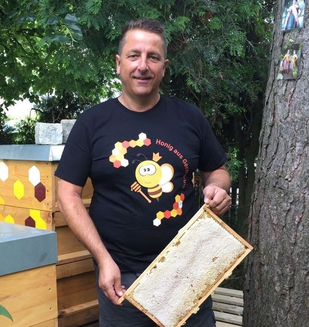 Ein wenig Werbung für Germeringer Honig